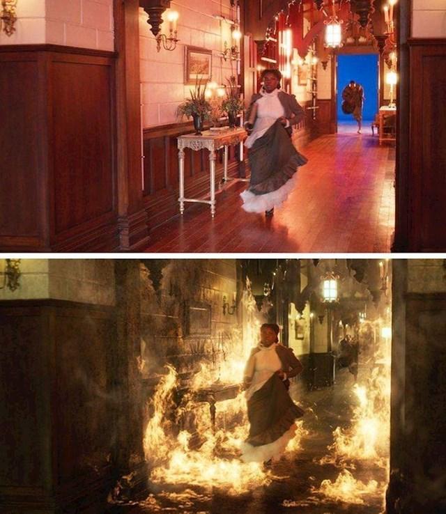 U filmu Lovecraft Country požar nije bio stvaran, glumica nije morala trčati kroz vatru
