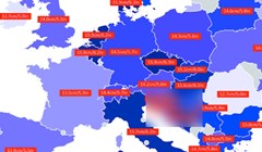 Ova mapa pokazuje prosječnu veličinu penisa u Europi, naši susjedi se imaju čime pohvaliti