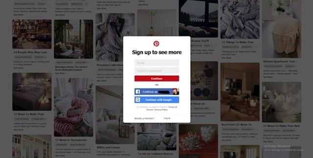 Koga ne živcira što se moraš registirati za pretraživati Pinterest?