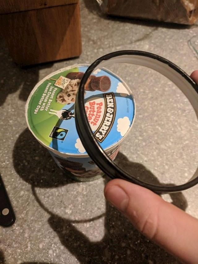 Pokušao sam otvoriti sladoled