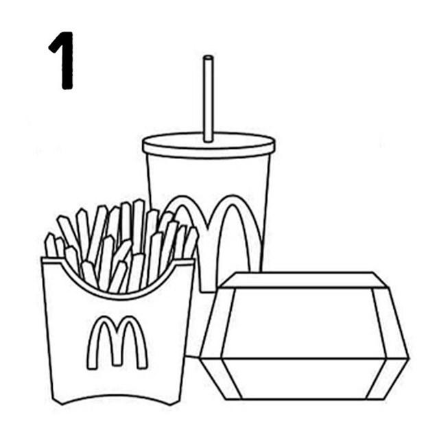 Trik se sastoji od 4 faze. Prije svega, morate kupiti cijeli menu koji uključuje piće sa slamkom, pomfrit i nešto što dolazi u njihovoj klasičnoj kartonskoj kutiji (poput hamburgera ili nuggetsa).