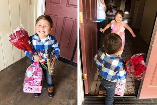 Ovaj dječak koji je iznenadio svoju simpatiju na Valentinovo