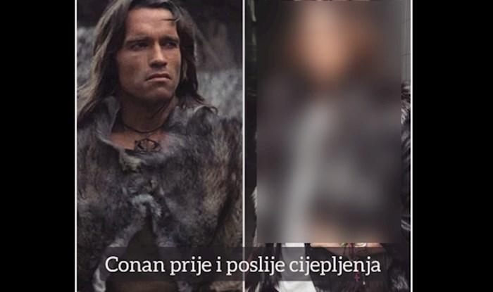 Fotka Conana prije i poslije cijepljenja skuplja tisuće lajkova gdje god se pojavi