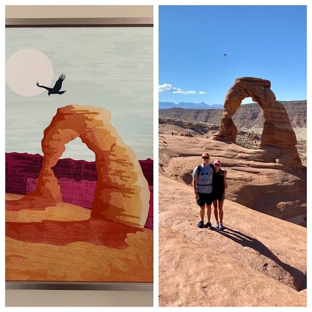 Kod kuće su godinama imali ovu sliku, otišli su u Grand Canyon i snimili identičnu fotografiju