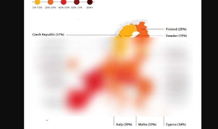 Mapa pokazuje koliko ljudi u EU koriste veze za državne usluge, iznenadit će vas kako stoji Hrvatska