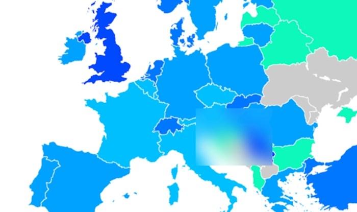 Mapa prikazuje postotak ljudi u Europi koji su primili cjepivo, pogledajte kako stoji Hrvatska