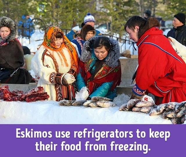 Eskimi koriste hladnjak kako bi spriječili hranu da se smrzne