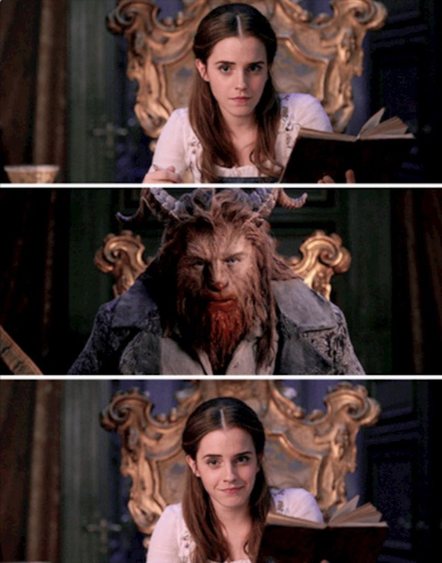 Emma Watson i Dan Stevens u filmu Beauty and the Beast (2017)