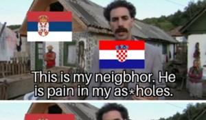 Netko je uz pomoć jedne scene iz Borata objasnio odnos Hrvatske i Srbije, svi umiru od smijeha