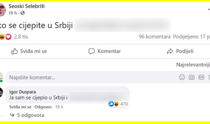 Svi dijele ovu foru o odlasku na cijepljenje u Srbiju, urnebesna je