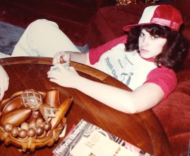 Moja mama fotkana 1978. godine. Imala je 13 tada