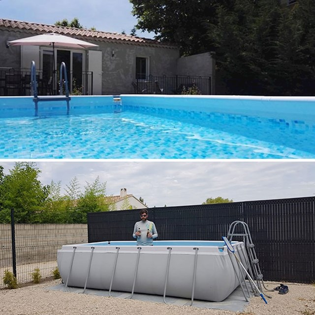 Bazen na slici vs. bazen uživo