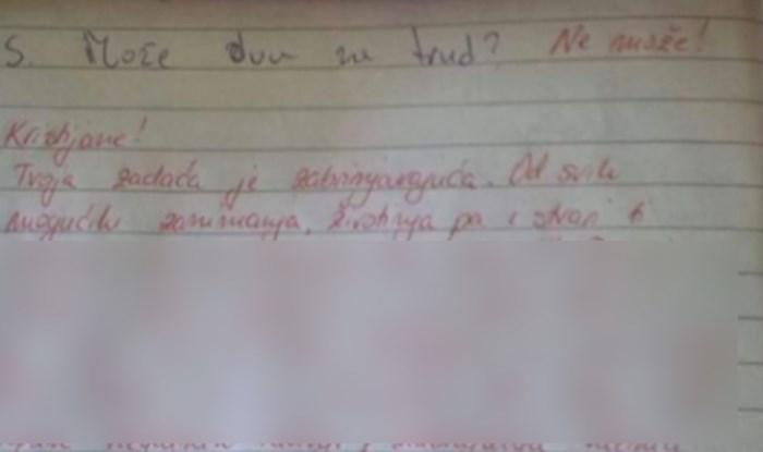 Učiteljica ostala potpuno šokirana temom zadaćnice koju je Kristijan odabrao, morate to vidjeti