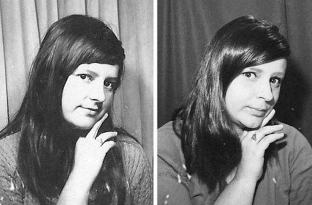 Lijev je moja baka kad je bila mlada, desno sam ja