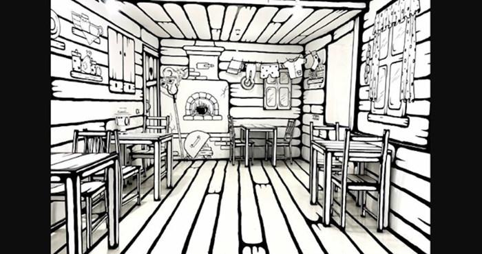 Ovo nije crtež nego fotka stvarnog, pravog kafića. Evo gdje se nalazi