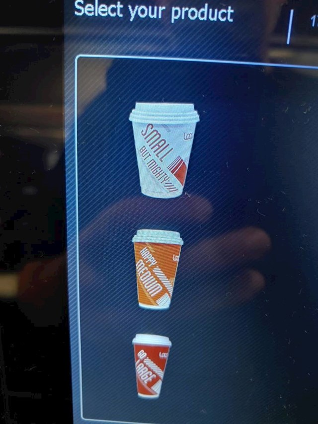 Mala čaša je velika, a velika je zapravo mala, Logično zar ne?