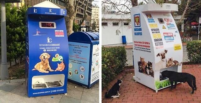 Još jedan primjer brige o životinjama može se vidjeti s ovim pametnim hranilicama za ulične pse i mačke koje su postavljene po gradu.