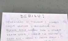 Zagrepčanin je ostavio poruku liku koji je oštetio tuđe aute, otkrio mu je što je primijetio