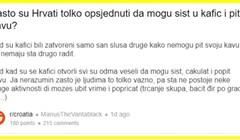 Netko je pitao zašto Hrvati toliko vole kafiće. Ljudi pišu da prvi komentar mora ući u Ustav