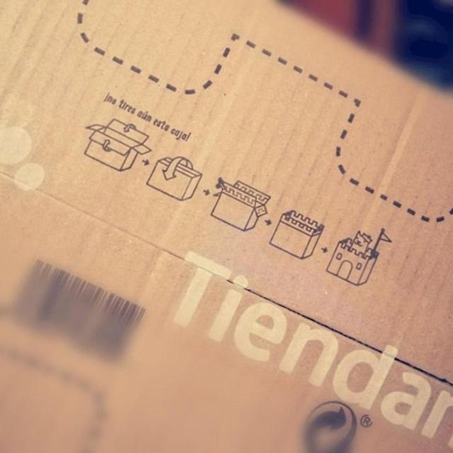 """""""Na ovoj kutiji je bilo nacrtano kako je možemo pretvoriti u dvorac za mačku!"""""""