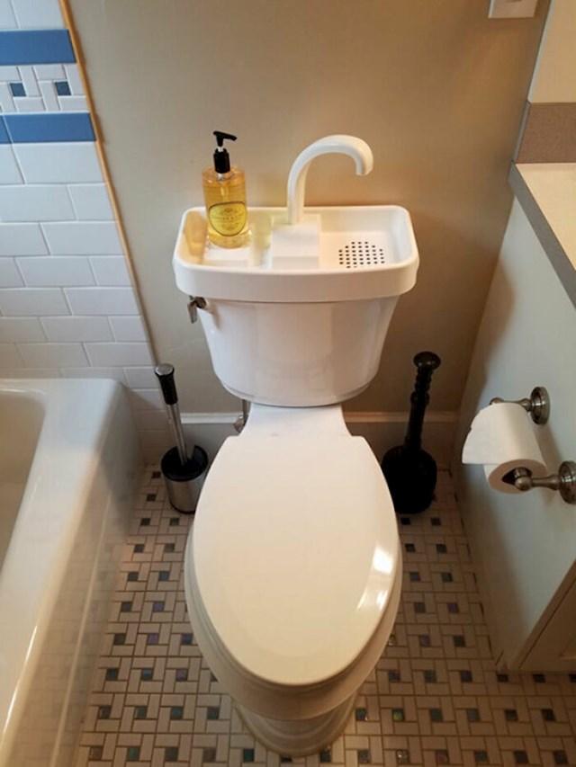 Pranje ruku puni vodokotlić i štedi vodu