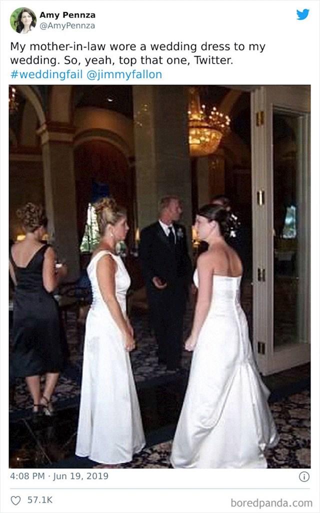 Definitivna pobjednica je ova patnica kojoj se svekrva na vjenčanju pojavila u vjenačnici