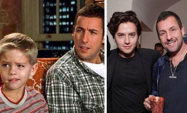 """Cole Sprouse i Adam Sandler (Julian """"Frankenstien"""" McGrath i Sonny Koufax)"""