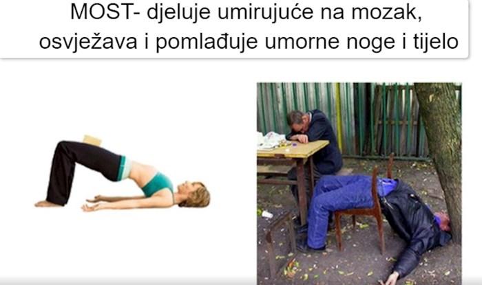 Vi ih zovete pijanci, mi ih zovemo majstori joge; ekipa će vam demonstrirati popularne poze u jogi