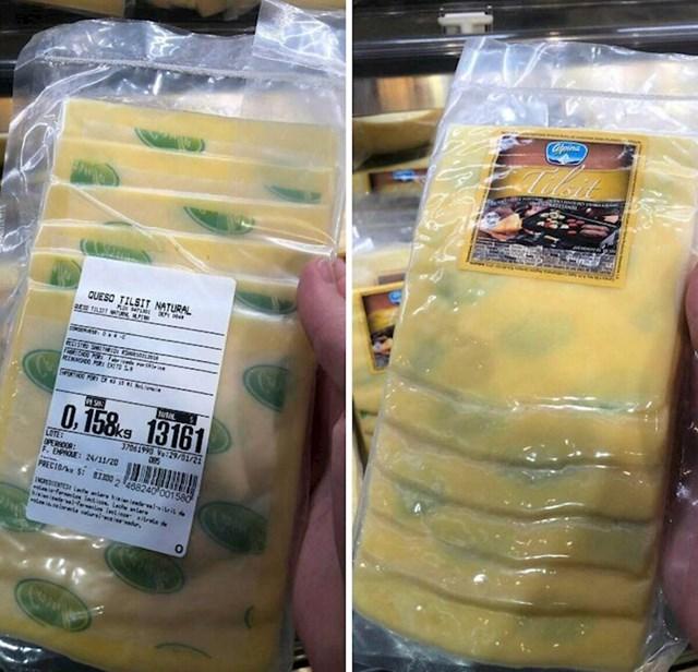 Omot sira ima zelenu boju i izgleda kao da ga je uhvatila plijesan