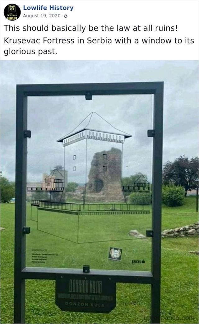 Genijalan prikaz kako su ostaci ove utvrde izgledali nekad