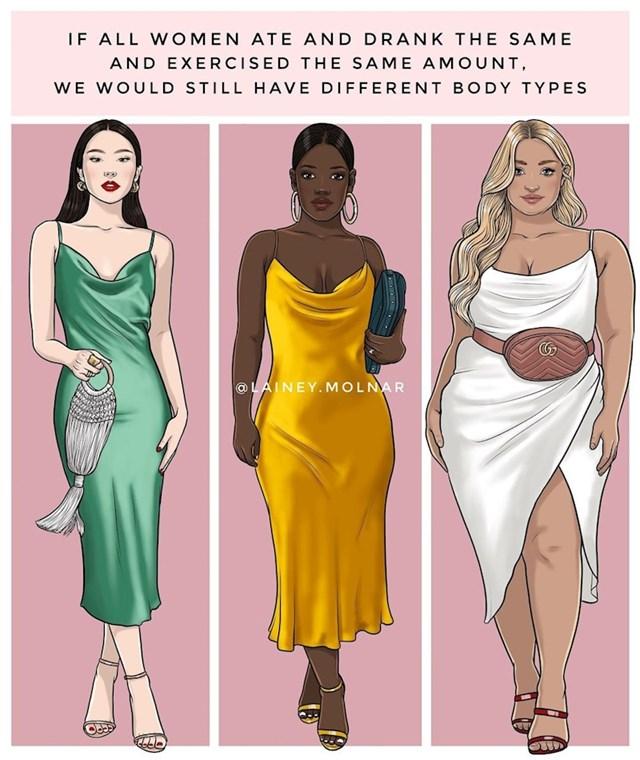 Kad bi sve žene isto jele i isto vježbale - opet bi imale različita tijela