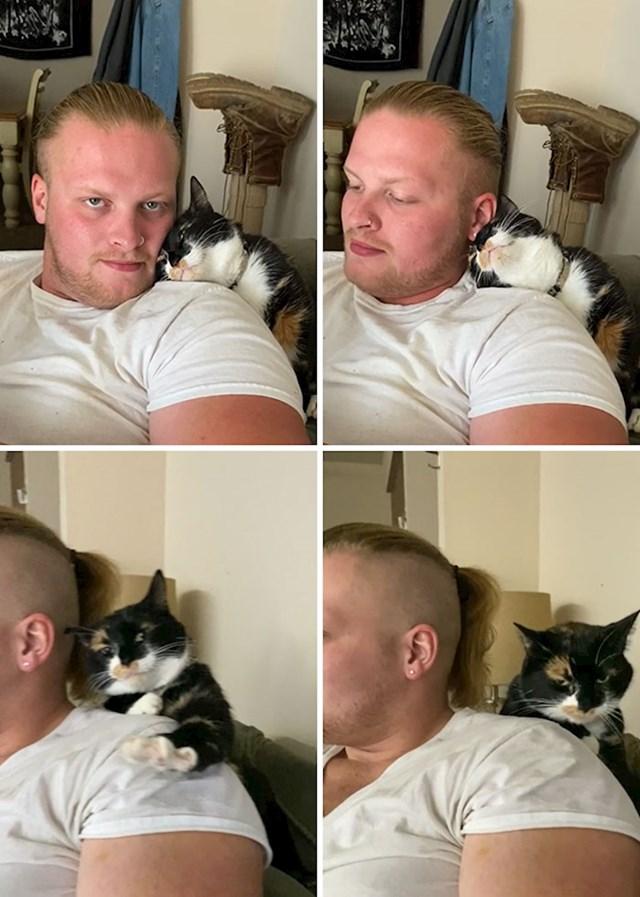 Moja mačka obožava mog dečka, uvjerena sam da je to sad njen dečko