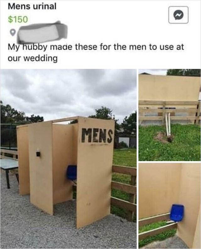 Mladoženja je sam napravio wc za goste vjenčanja, aaaw kako predivno... Bljak!