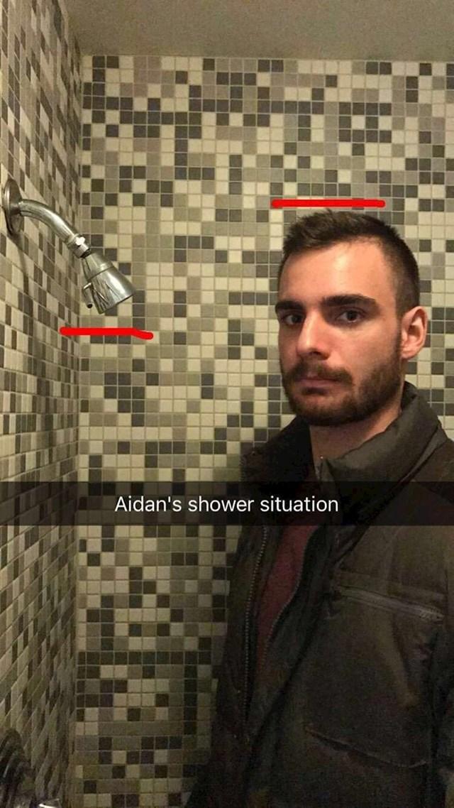 Aidan je ostao suhe kose