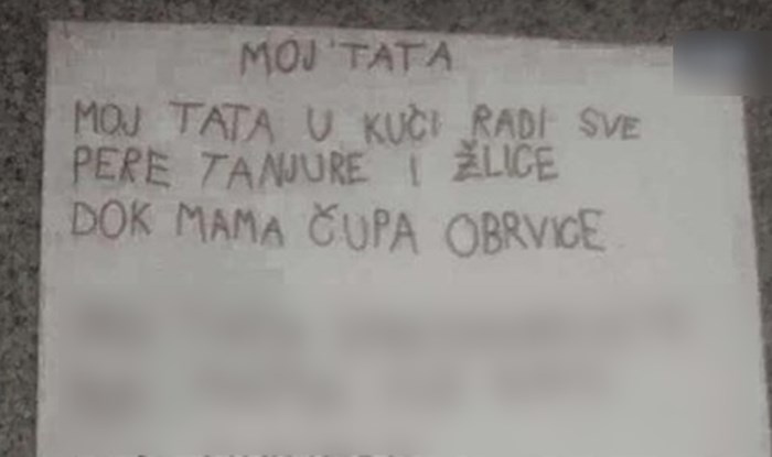 Dijete napisalo pjesmicu o tati u kojoj je previše otkrilo o njemu, mami i njihovom braku