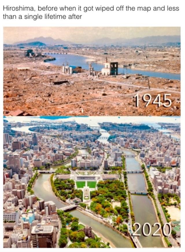 Hiroshima, razlika 75 godina