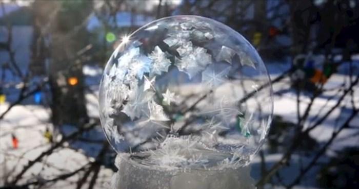 Ovo nije snježna kugla koju kupite u dućanu, pogledajte o čemu se radi