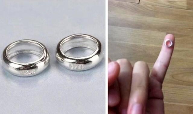Prstenje joj se učinilo jeftino pa je naručila više komada