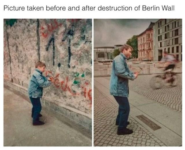 Ista osoba prije i nekad nakon rušenja Berlinskog zida