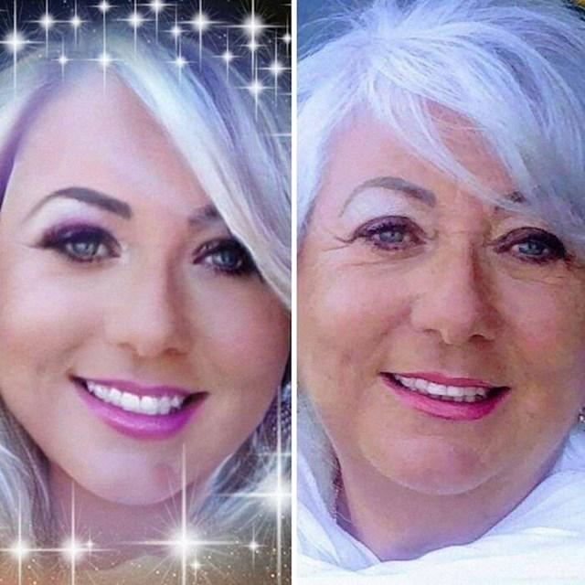 Njena fotka vs. tagirana fotka