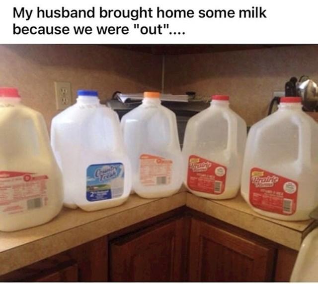 """""""Otišao je u trgovinu jer nam je nestalo mlijeka"""""""