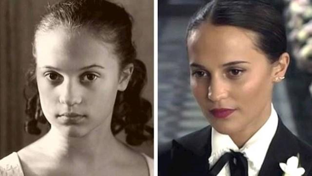 Alicia Vikander s 13 i 30 godina
