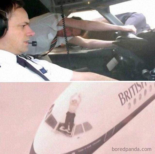 1990. godine panel vjetrobranskog stakla na letu 5390 British Airways-a ispao je na visini od 5 tisuća kilometara što je uzrokovalo dekompresiju kokpita i izvuklo njegovog kapetana na pola iz zrakoplova.  Posada ga je držala više od 20 minuta dok je kopilot odradio hitno slijetanje. Pilot se potpuno oporavio