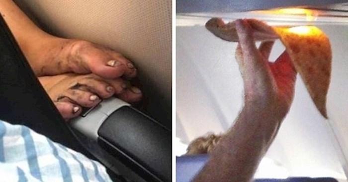 Putnici su podijelili slike najčudnijih prizora koje su vidjeli tijekom leta