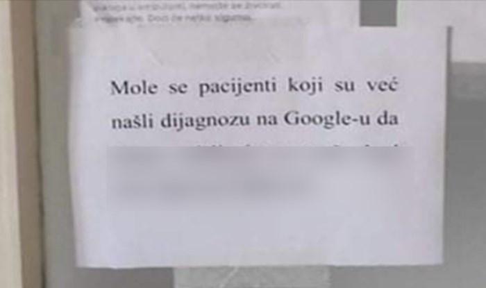 Svi se slažu s natpisom koji osvaja internet, a postavljen je u jednoj ordinaciji