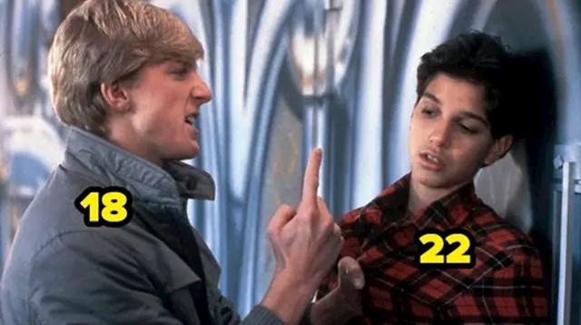 Iako je filmu Karate Kid drukčije opisano, bully je 4 godine mlađi od Kida
