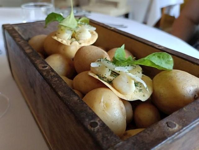 Zalogajčići posluženi na kutiji s krumprima