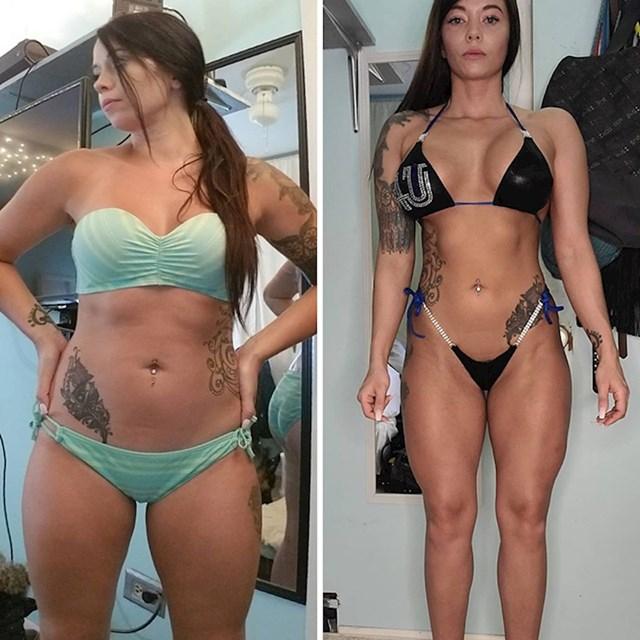 Otprilike jednak broj kilograma na obje fotke, samo su drugačije raspoređeni