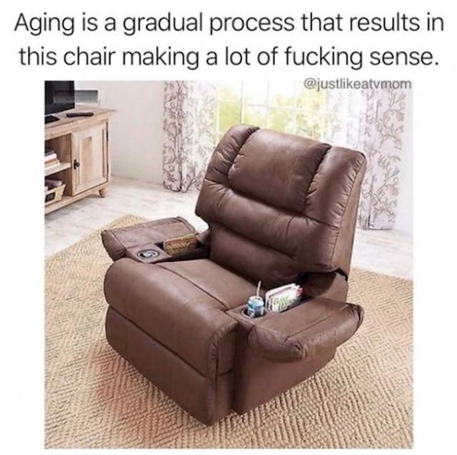 Starenje je postepen proces koji završava sa zaključkom da ovaj naslonjač ima smisla
