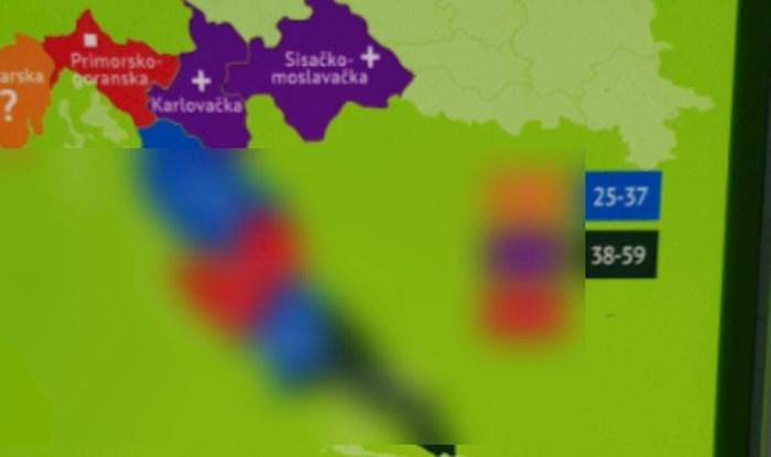 U ZOO-u u Osijeku nalazi se ova karta Hrvatske, prilično su se osramotili